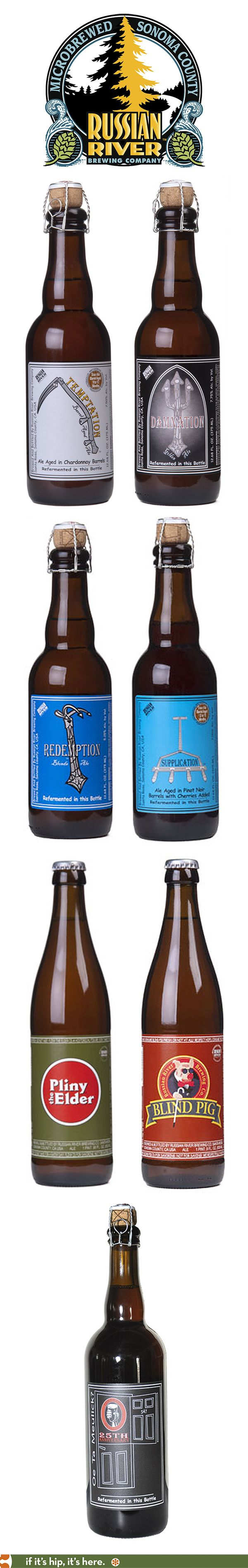 Russian River brewing Company's Bottled beers.