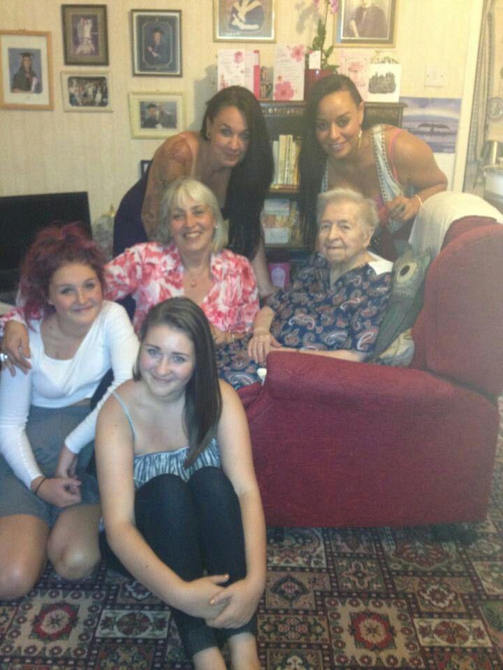 Mum with the girls