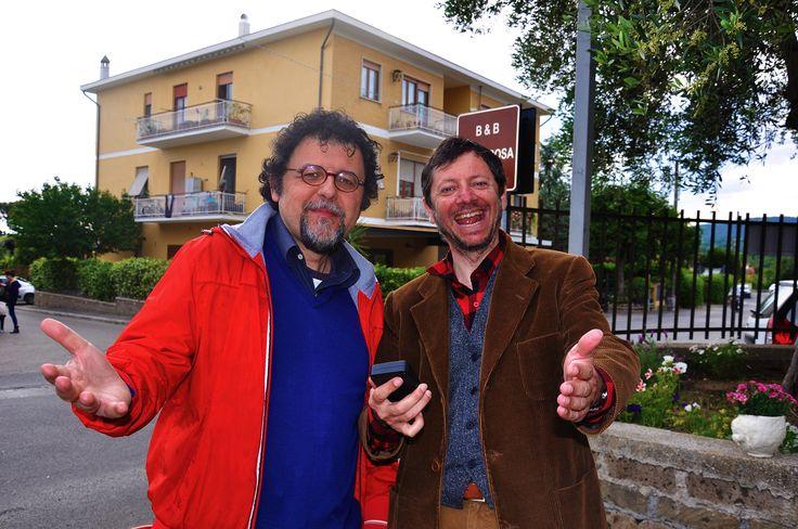 Con l'artista Alimberto Torri a Trevignano Romano.