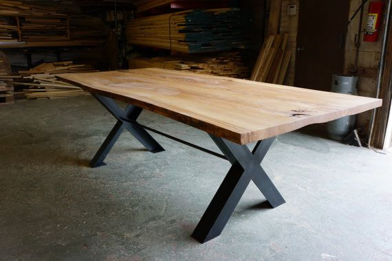 Reclaimed wood live edge dining table by moss by mossdesignchicago, $4800.00
