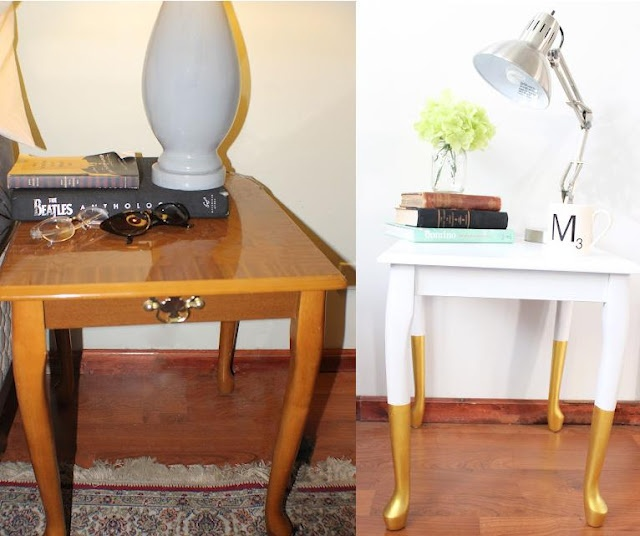 radical possibility: When I dip you dip we dip - Part Two, Refurnishing a Thrift Store End Table