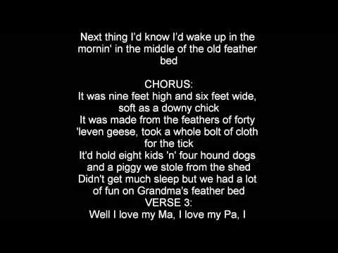 John Denver Grandma's Feather Bed lyrics