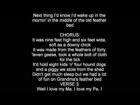 ▶ John Denver Grandma's Feather Bed lyrics - YouTube