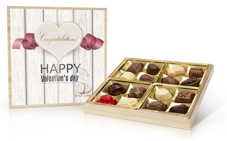 Valentýnská bonboniera 200g s belgickými čokoládovými pralinkami
