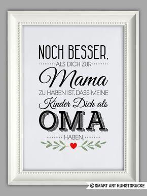 """""""BESTE OMA"""" Kunstdruck, Muttertag Geschenk von SMART ART Kunstdrucke ® auf DaWanda.com"""