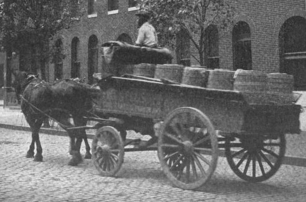 "A ""night soil"" collection wagon, Baltimore circa 1900. (Photo: Public Domain)"