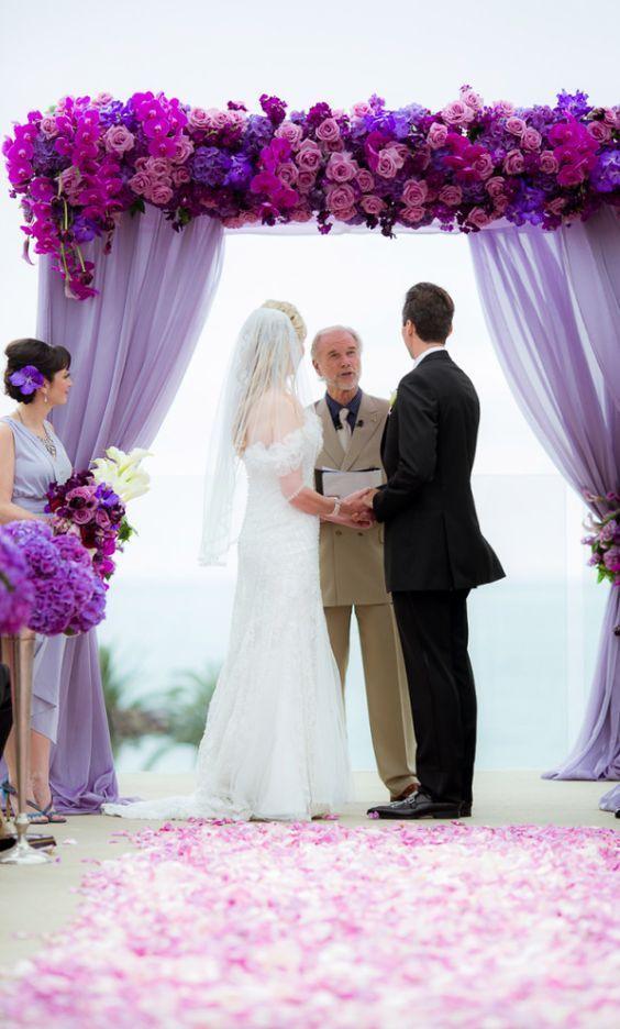 small beach wedding ceremony ideas%0A    Stylish Purple Wedding Color Ideas