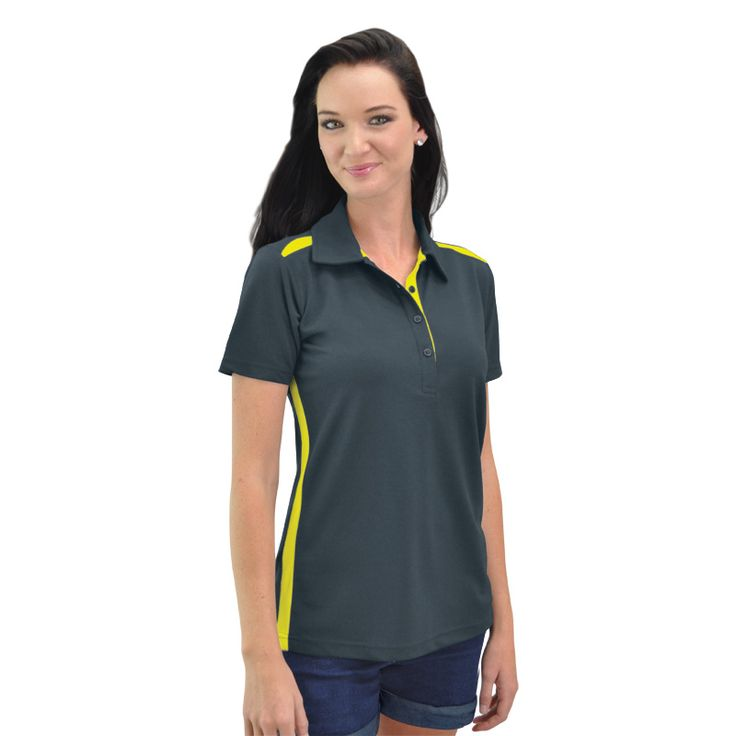 Ladies Vector Polo BRAND: GLOBAL CITIZEN has high quality moisture management fabric for maximum breathability and coolness and dries quickly through evaporation