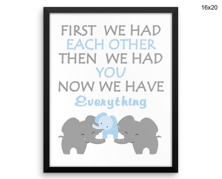 Elephant Canvas Art Elephant Printed Elephant Nursery Art Elephant Nursery Print Elephant Framed Art Elephant mom dad baby elephant family #canvas #frame