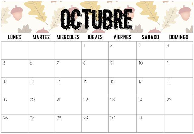 Calendarios Octubre 2015 | Imprimibles