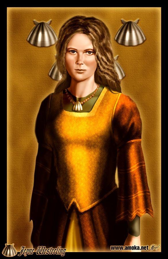 Jeyne Westerling - É a esposa do Rei do Norte Robb Stark. Durante a expedição nas Terras Ocidentais Robb invadiu a fortaleza dos Westerling. Robb foi ferido por uma flecha e Jeyne cuidou de seu ferimento. Robb recebeu uma mensagem de que seus irmãos foram mortos por Theon Greyjoy. Jeyne consolou Robb e eles dormiram juntos. Para proteger a sua honra, ele se casou com ela. O casamento provocou o rompimento da aliança com a Casa Frey, já que Robb tinha jurado se casar com uma moça Frey.