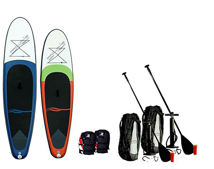 PROWAKE SHARK 1 UND 2... 2 x SUP Board 779,-€ / Spar-Set: iSUP Shark1 (292cm) + iSUP Shark2 (305cm) + Gratis  2 x Jobe Universal-Schwimmweste