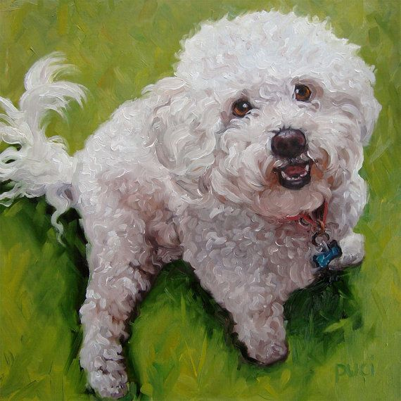 Pet Lovers custom Pet Portrait Oil Painting by by puciPetPortraits, $147.00