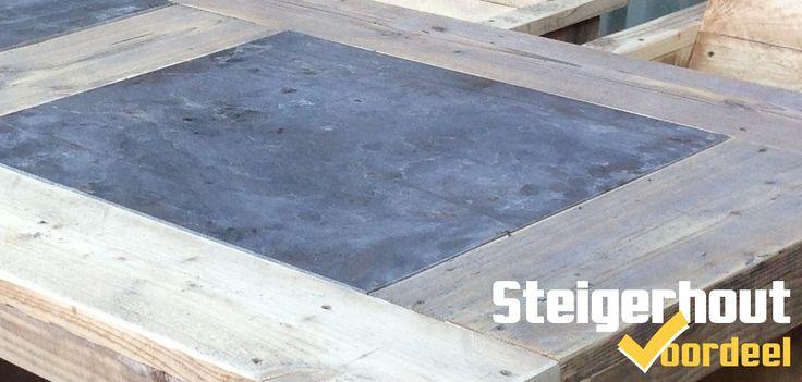 Onze nieuwe meubellijn aan het uitdenken. Steigerhout gecombineerd met natuursteen. Goede ideeën zijn welkom!