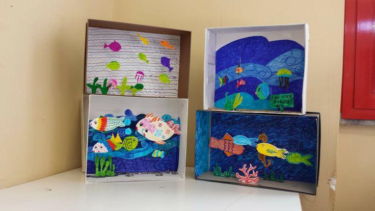 Dietro il dipinto: Un acquario in una scatola da scarpe!!!