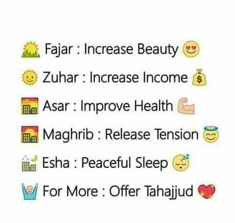 ❤ 5 prayers in Islam