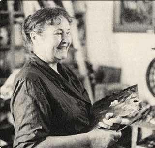 Tatiana Yablonskaya at work. 1980s