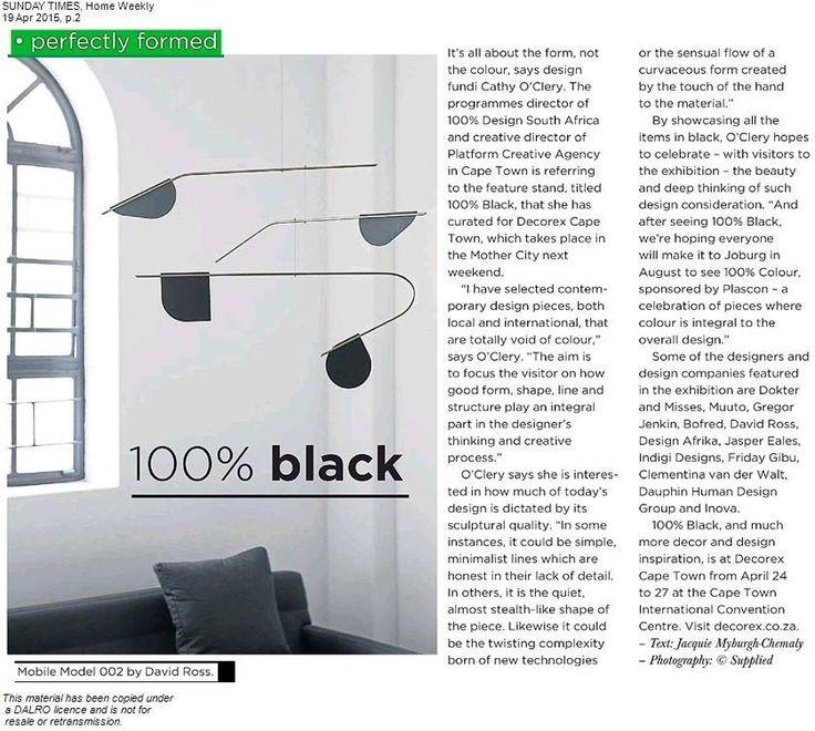 100%Black / 100% Design South Africa. 2015