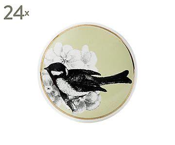 Set de 24 pomos de puerta de cristal y metal Bird I - Ø3,5 cm
