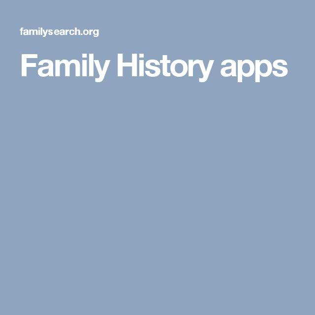 FamilySearch App Gallery  One place to find all the apps you need to find, connect, organize, and explore your family.