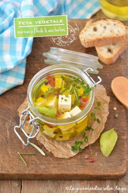 Feta végétale {marinée à l'huile d'olive