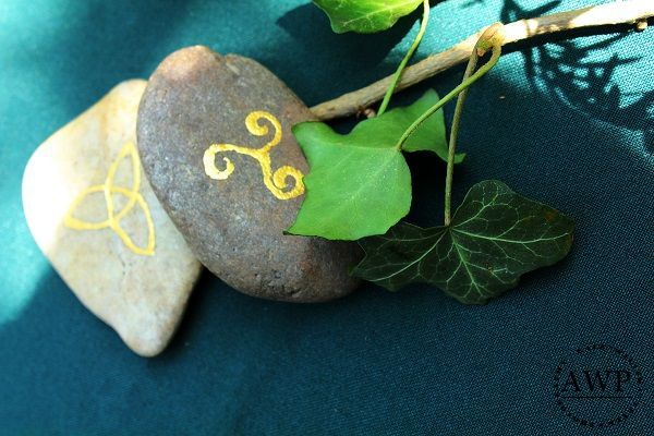 ivy and celtic stones