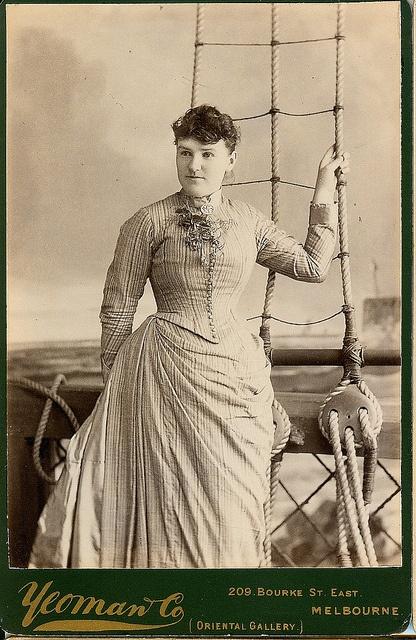 Vintage Photograph  Young Woman - Melbourne Australia