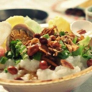 Bubur Ayam - Indonesian Rice Porridge with Chicken