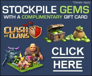 Get GEMS for Clash of Clans! Viite Here ==>http://ow.ly/rppS301PeT5