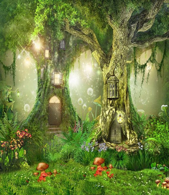 Night Fantasy Cartoon Fairy Tale Forest Photography Backdrops Etsy Forest Backdrops Fairy Tale Forest Forest Fairy