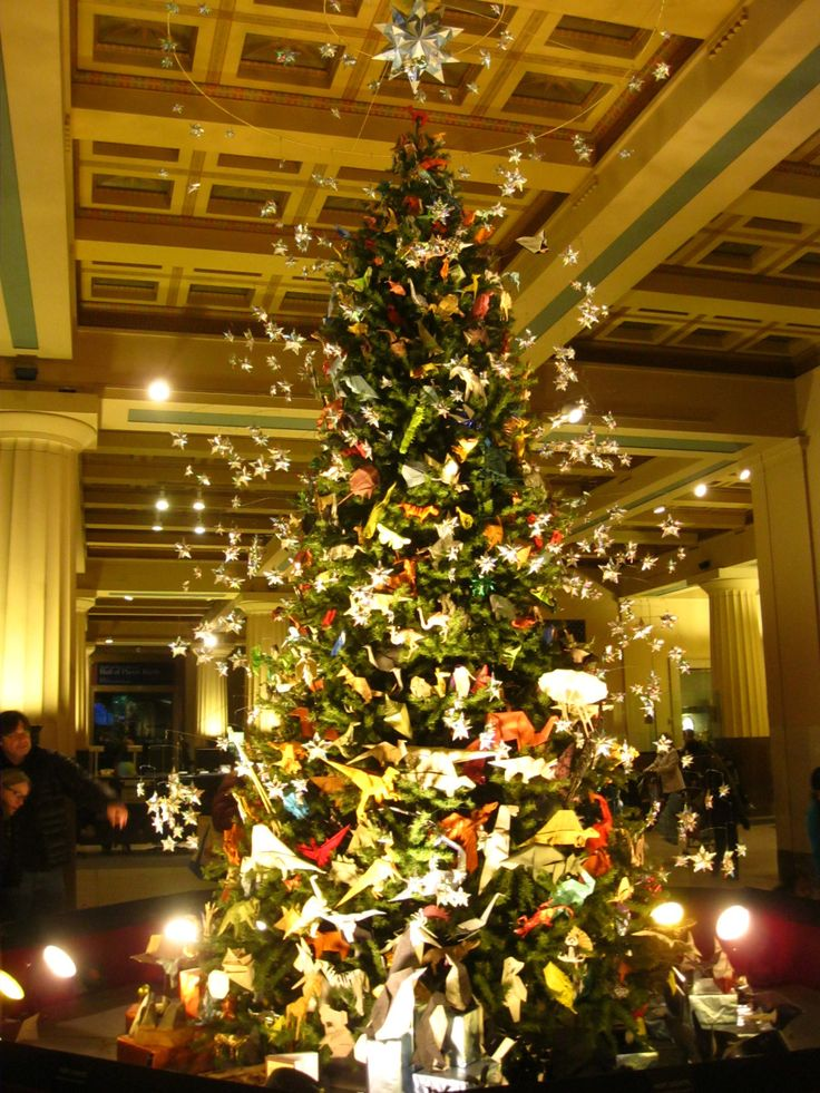New York Museum of Natural History Origami Christmas tree