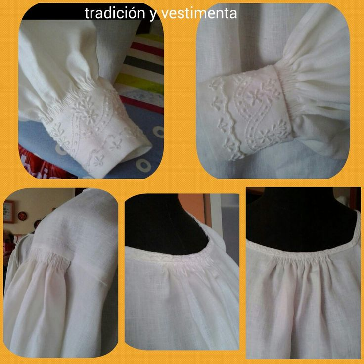Blusa traje típico mujer de la isla de La Palma