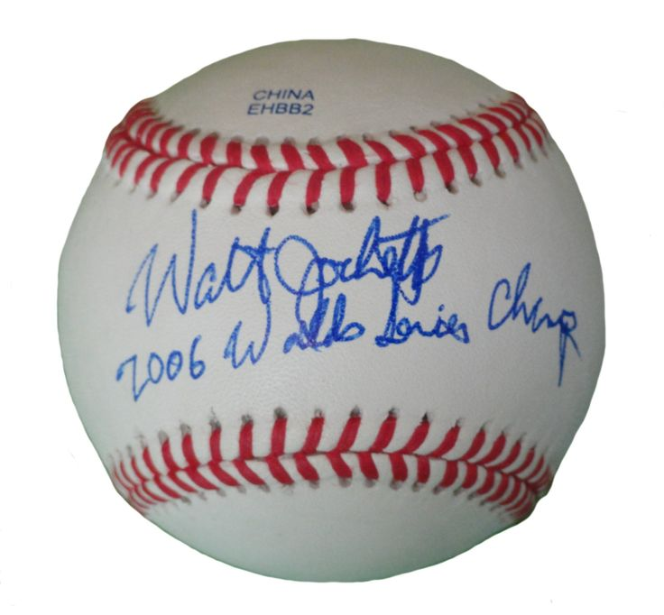 """Walt Jocketty Autographed Rawlings ROLB1 Leather Baseball w/ WS Inscription, Proof Photo. Walt Jocketty Signed Rawlings Baseball w/ """"2006 World Series Champ"""" Inscription! St Louis Cardinals, Proof   This is a brand-new Walt Jockettyautographed Rawlings official league leather baseball featuring """"2006 World Series Champs"""" inscription!Waltsigned the baseball in blueball point pen.Check out the photo of Waltsigning for us. ** Proof photo is included for free with purchase. Please click…"""