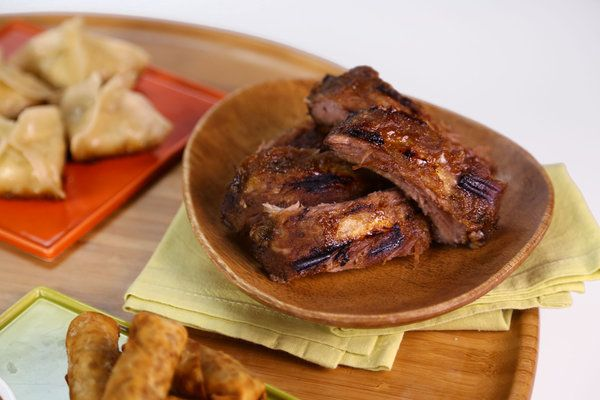 Carla Hall's Sticky Pork Ribs (from The Chew).  SOUNDS INCREDIBLE!!!  (Also has a video to watch aout making it, as well as the complete recipe.)