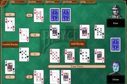 Spite and Malice: @Topyaps Spite and Malice is a Solitaire like card game, it can be played by two to four players. http://topyaps.com/top-10-popular-card-games