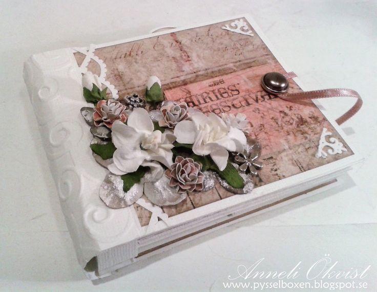 Small Princess mini album with Prima Princess paper 4 1/4 x 3 1/2 inch 7
