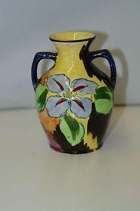 Art Deco H.K. Tunstall Vase Rare Four Petal Floral (Hollinshead Kirkham)