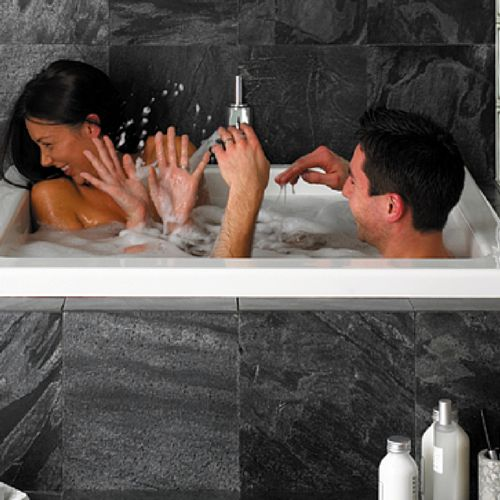 57 best wash images on pinterest bathrooms soaking tubs for Deepest bathtub available