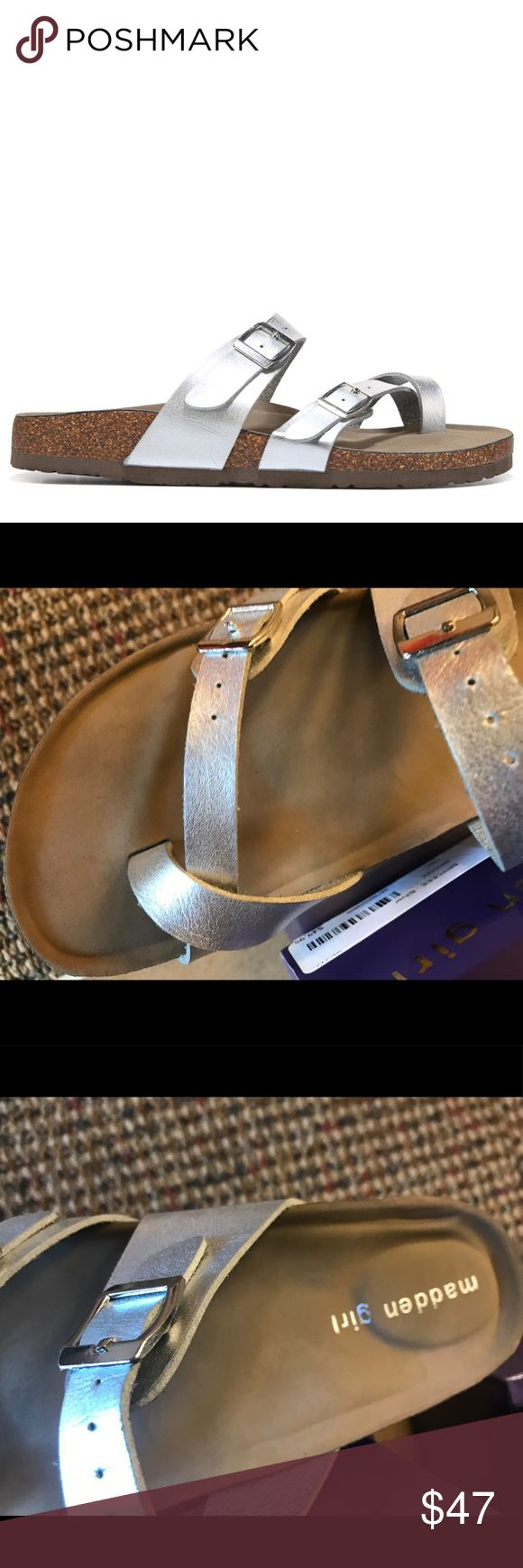 Madden Girl Brycee - Silver Madden Girl - Brycee - Silver - brand new - Birkenstock-like - more sizes available - less on Ⓜ️ e r c & ✔️inted - offers through offer button only Birkenstock Shoes Sandals