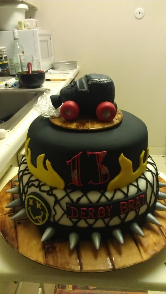 34 best roller derby cakes sweets images on pinterest cake roller derby 13th birthday cake sciox Choice Image