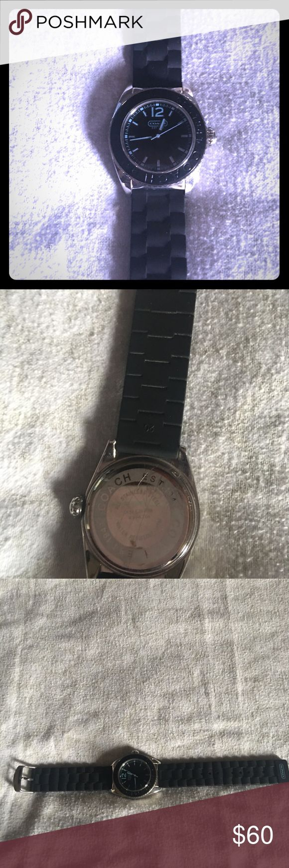 😍😍Authentic Coach Wristwatch 😍😍 Watch is in great condition. Wide face with Coach and Coach origin year engraved around the face. A couple of scratches on the back as shown in pics. Great Watch for Coach collectors! Coach Jewelry