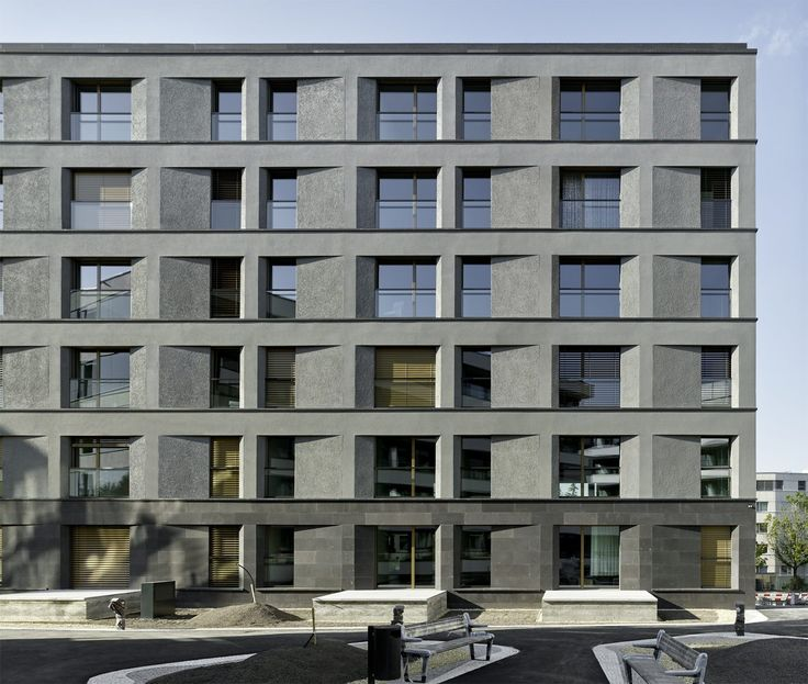 Archaik in Putz und Basalt - Stadthaus von Max Dudler bei Zürich