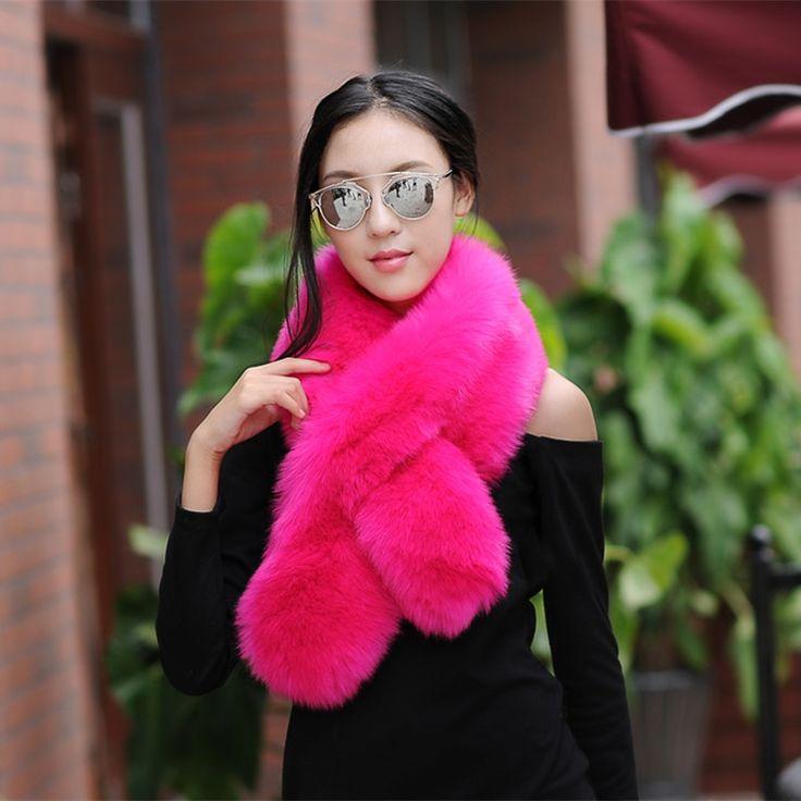 winter faux fur shawl warm collar long fur scarf women imitation fur wraps cosplay muffler female unreal fur stole accessories