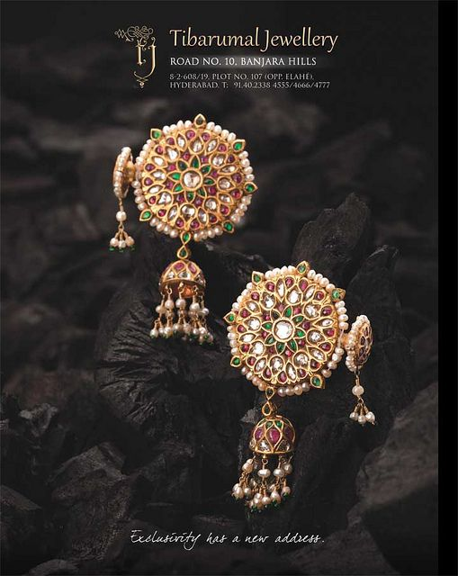 Tibrumal #earrings #kundan #polki #indian #desi #gold #rubies #traditional #jhumki