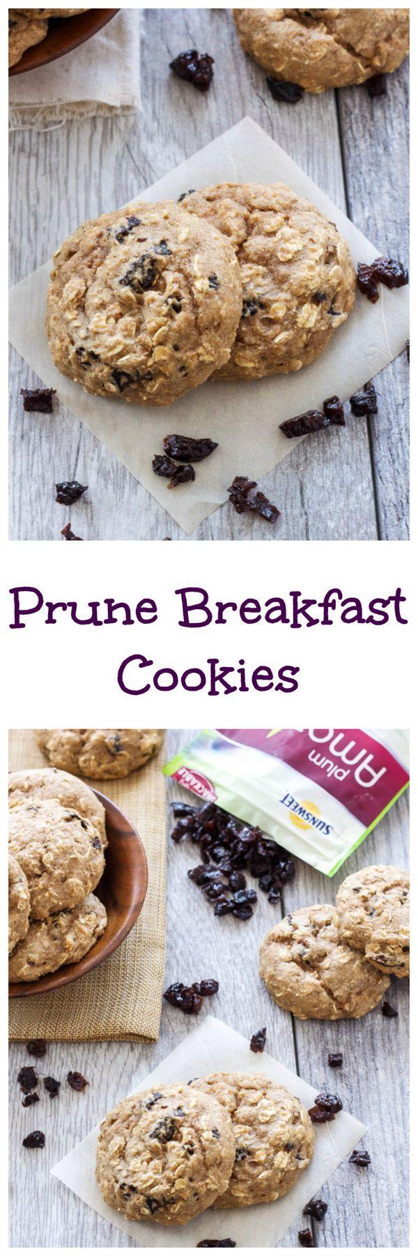 Prune Breakfast Cookies | Delicious and healthy breakfast cookies full of sweet diced prunes! | www.reciperunner.com