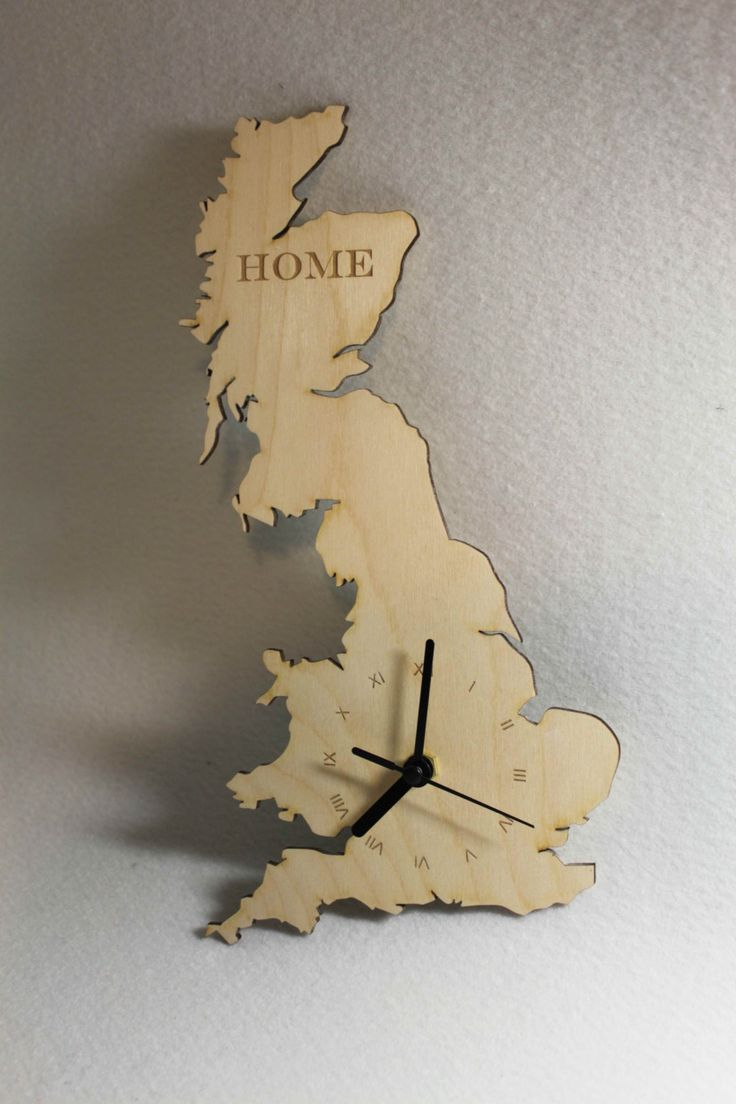 Unique bespoke Great Britain county shape clock wooden map  country UK clock  handmade Ireland by FeelMyCraft on Etsy