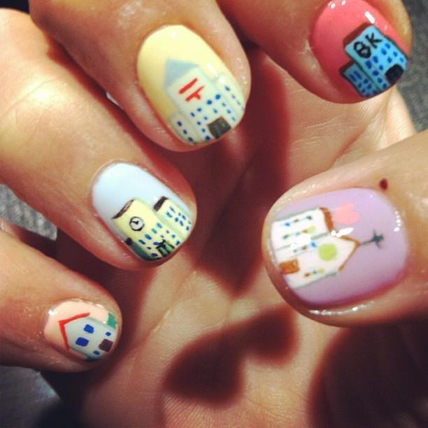 small town | Emoji nails, Nail art designs, Nail art