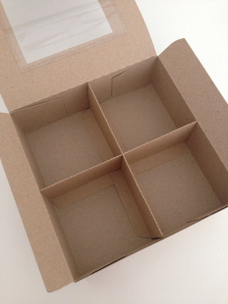 Kraft Card Square Gift Presentation Box with 2 Removable Insert Divider With or Without Window (20) - pinned by pin4etsy.com