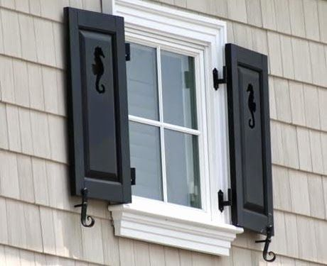 Decorative Coastal Window Shutters For Curb Appeal House