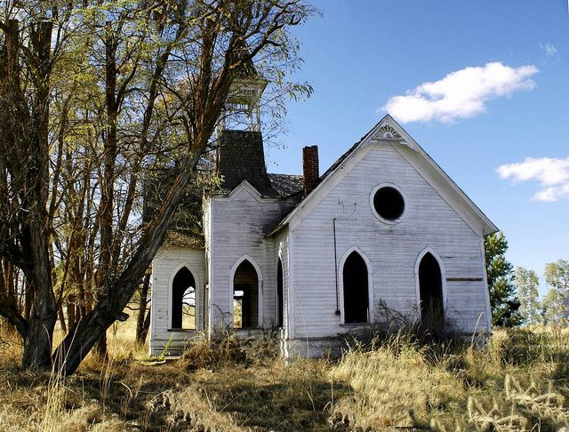 This church in central Oregon was built in 1906 and abandoned around 1961.  If only those walls could talk...